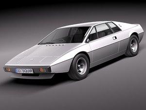 3d model esprit s1 sport car