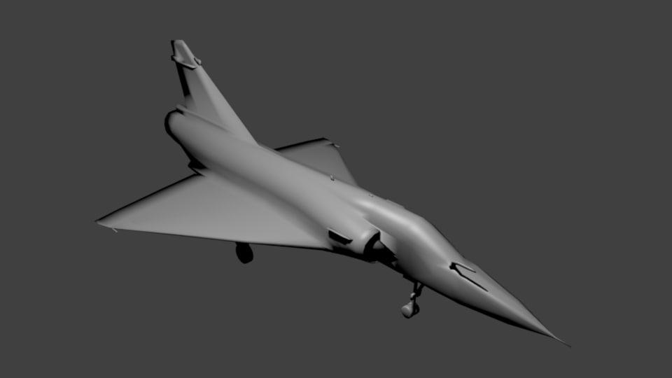 3d model mirage 2000