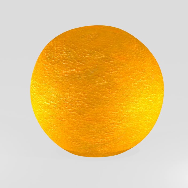 3d model hd orange