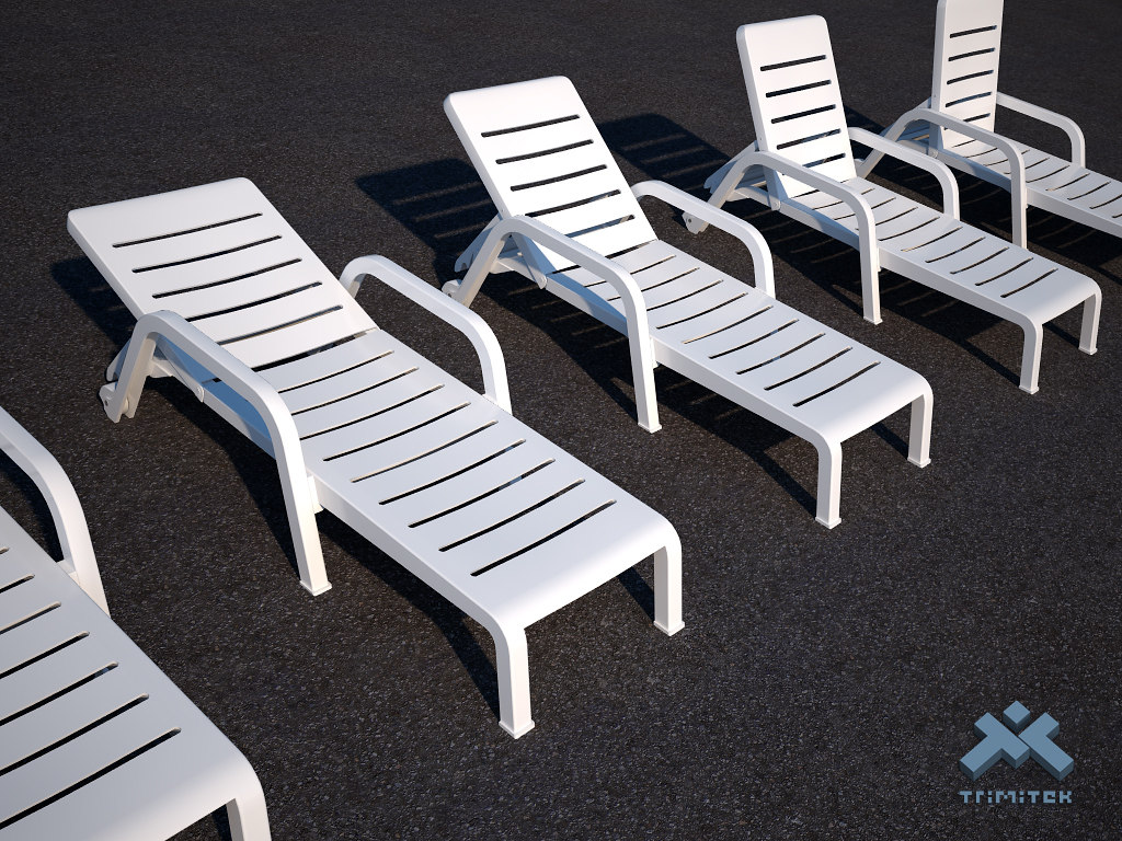 Poolside Chaise Lounge Chair Set