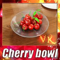 Cherry + Fruit bowl + High resolution Textures