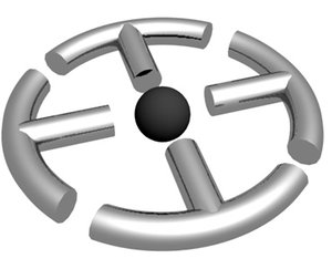 3d cross circle