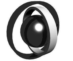 rings ball animation 3d model