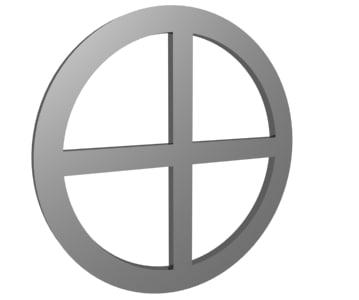 spinning cross 3d model