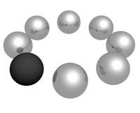 3d balls circle model