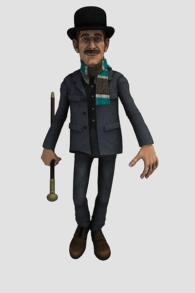 character watson 3d model