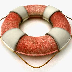 3d model of lifebuoy buoy