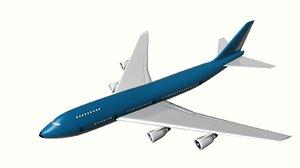 3d 400 series boeing 747