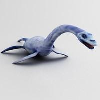 plesiosaurus dinosaur 3d model