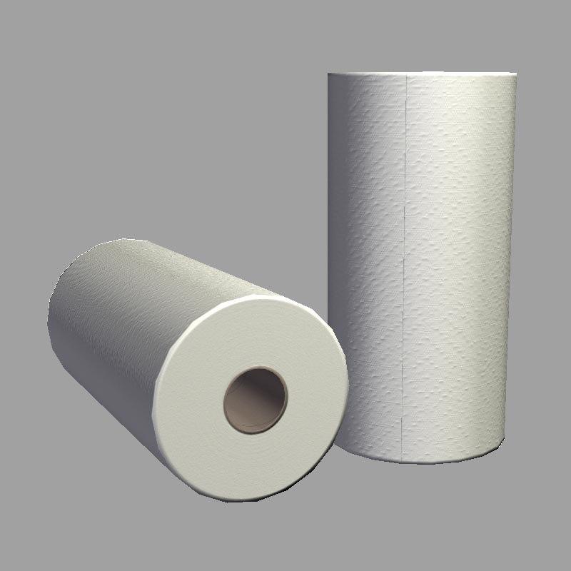 roll paper towels 3d obj