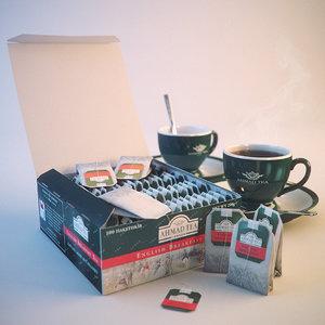 ahmad tea bags 3d c4d