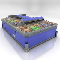 chest freezer 3d model