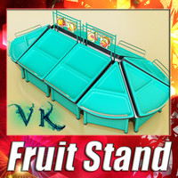 3d model of fruits stand
