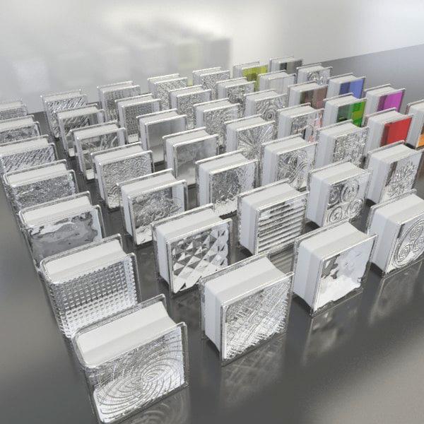 glass blocks 1 3d model