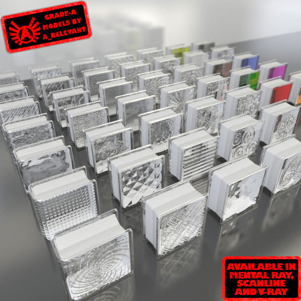 glass blocks 1 3d model
