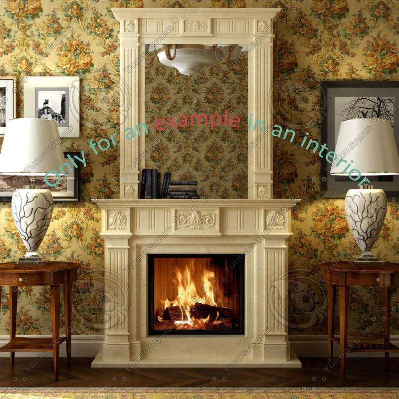 3d fireplace 28 model