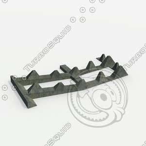 barriers - 1939 obstacles 3d model