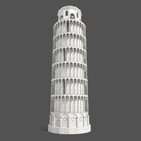pisa tower fbx