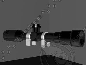 free 3ds model x16 scope