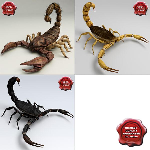 obj scorpions set modelled
