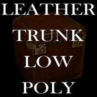 Leather Trunk, Low Poly