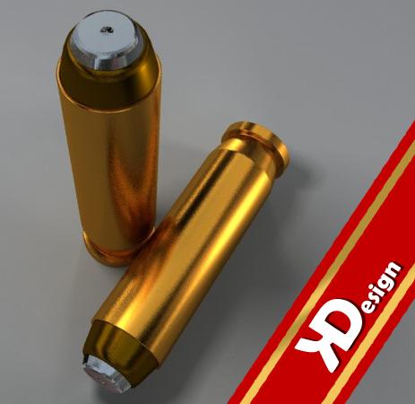 3d pistol bullet