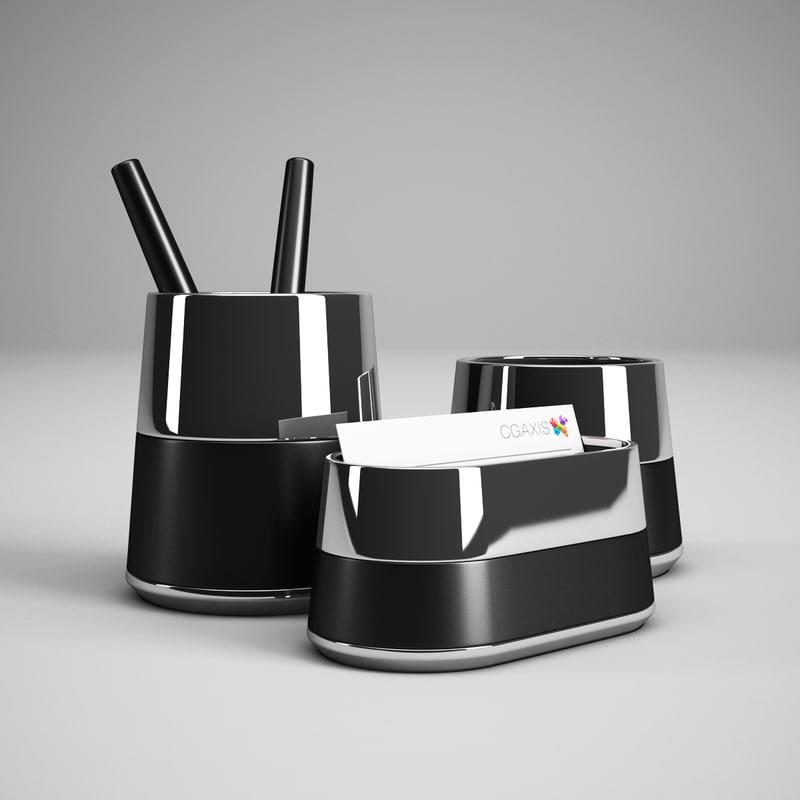 3d model office desk accessory 28