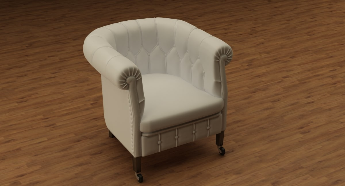 chester chair 3d model