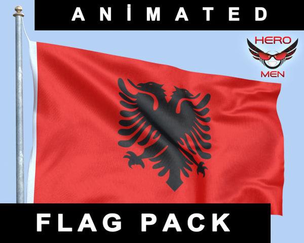 3dsmax flag albania