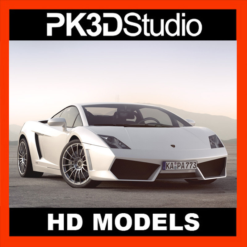 lamborghini gallardo car 3d model