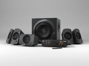 logitech surround speakers z906 3d model