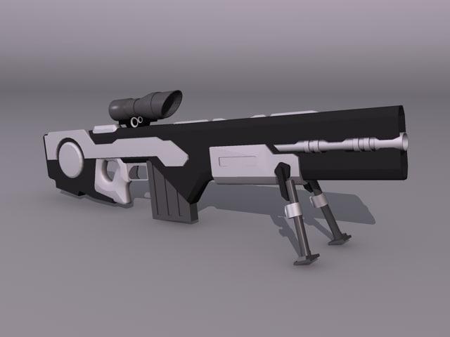 3d futuristic sniper rifle model