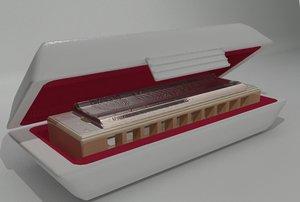 harmonica marine band 3d model