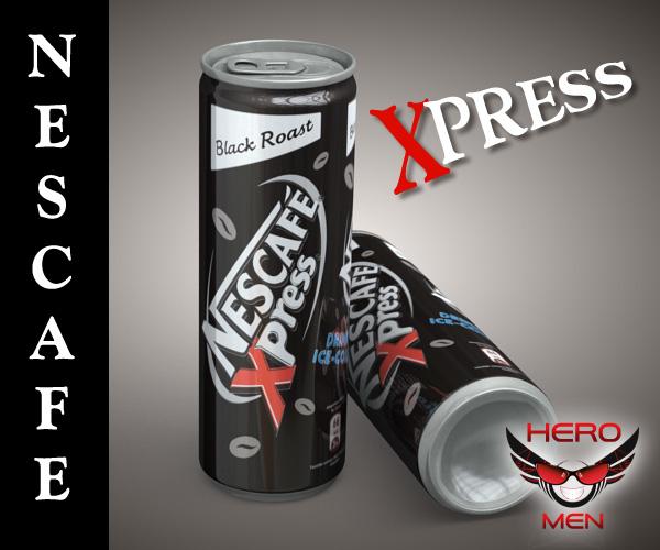 realistic nescafe xpress drink cans 3d max