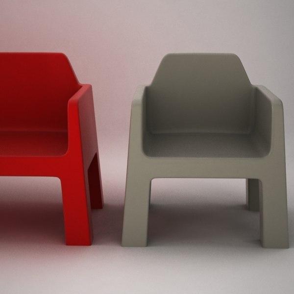 3d armchair object sofa model