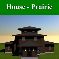 3d prairie styled house