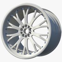 3d wheel rim spoked sport