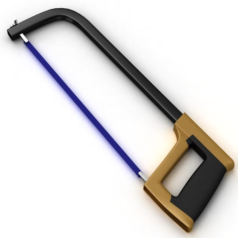 3d model saw handsaw hacksaw