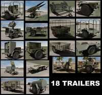 18 US Military Trailers
