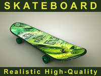 skateboard green 3ds
