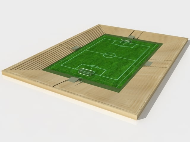 3ds max soccer field polygonal
