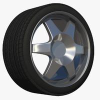 3d wheel sport car rim model