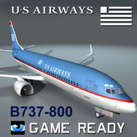 3d 3ds airways b737-800