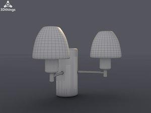 wall modern chrome 3d model