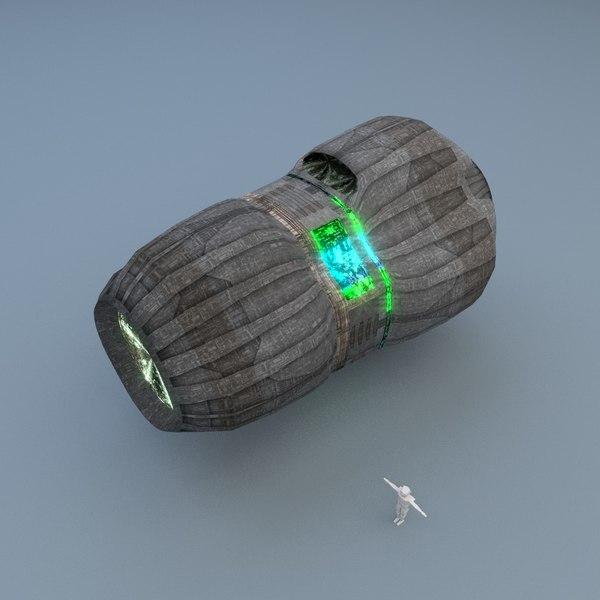 starship drive 3d model