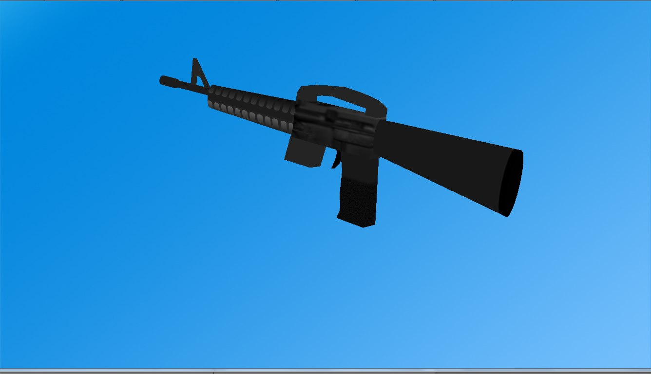 free m16 rifle 3d model