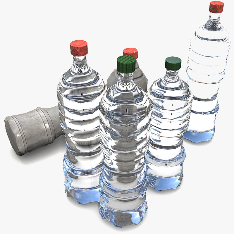 3d pet bottle model