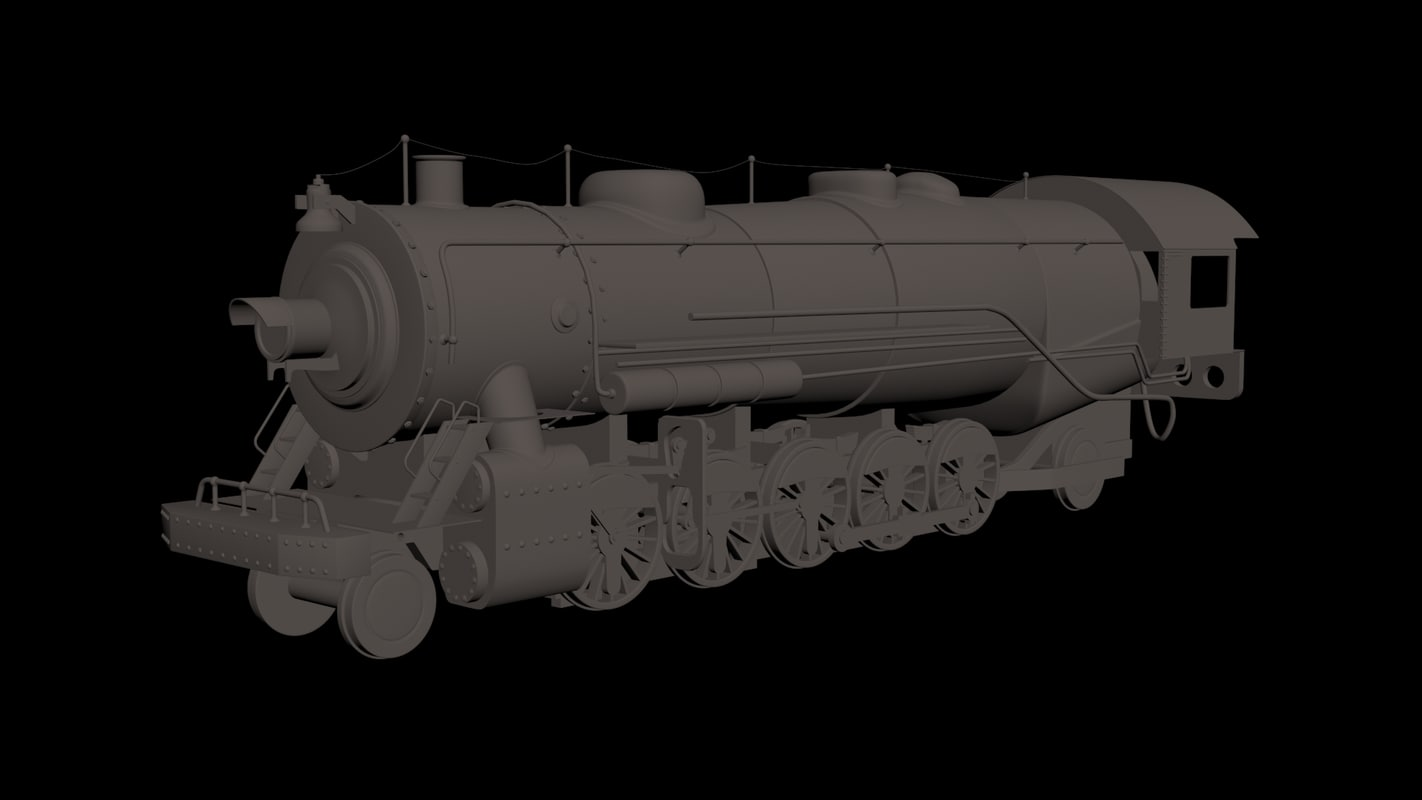 3d model steam train