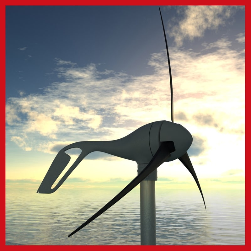 wind turbine air x 3d model