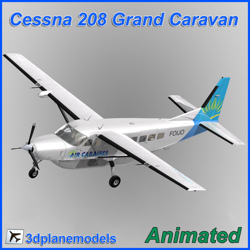 cessna 208 caravan grand 3ds
